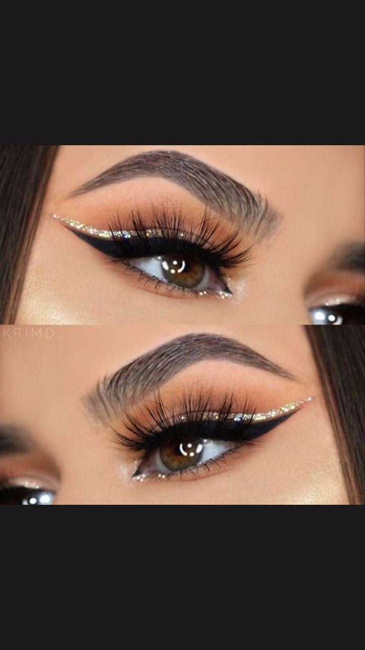 glitter eyes makeup #glittereyemakeup