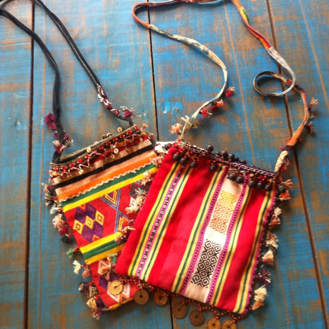 Vintage tribal bags from bali bohemian chic