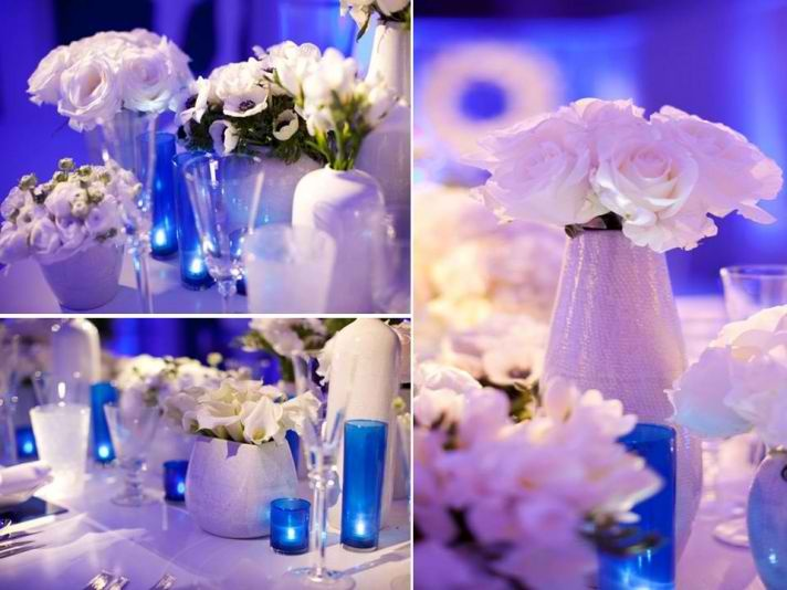 Classy Cream And Midnight Blue Theme For Wedding Reception