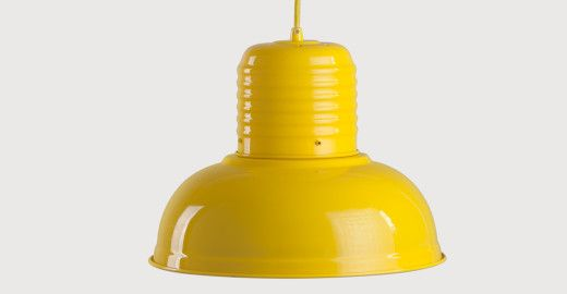 Add an industrial edge to your look with the Jackson pendant light in gloss yellow.