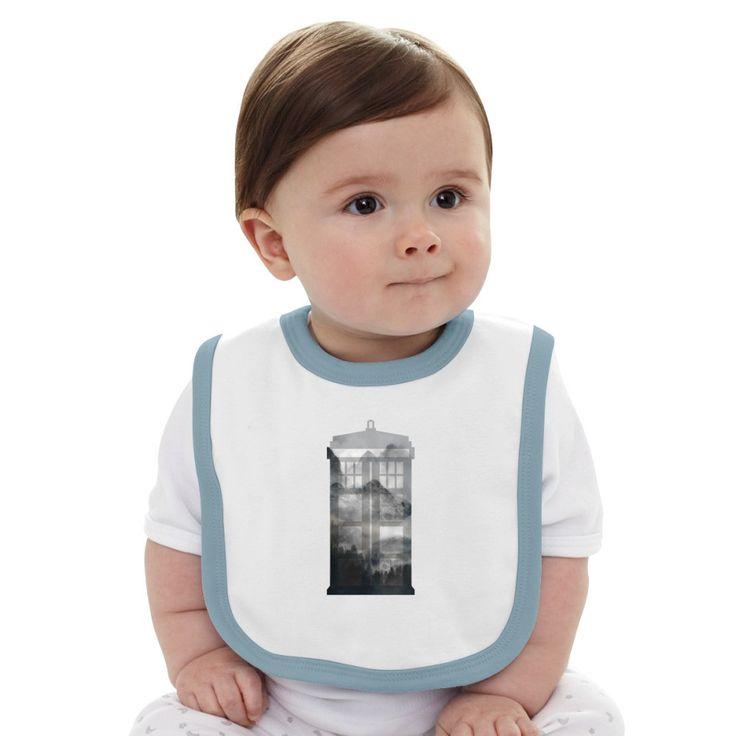 Doctor Who Misty Mountain Baby Bib