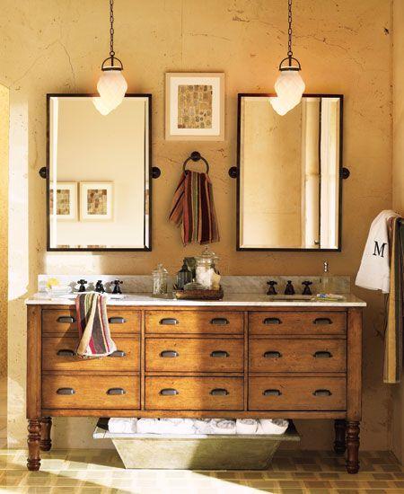 Meuble salle de bain double vasque | BricoBistro.Plein d'idées de meubles recup