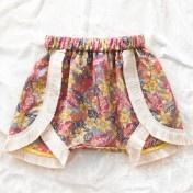 opus flower fringe shorts