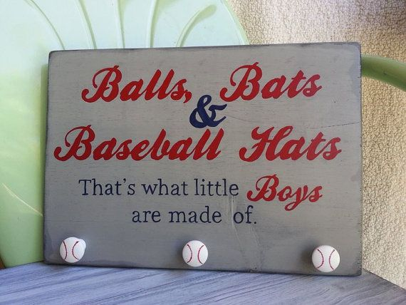 Baseball Sign  Boy's Room by EmeraldCustomSigns on Etsy, $45.00
