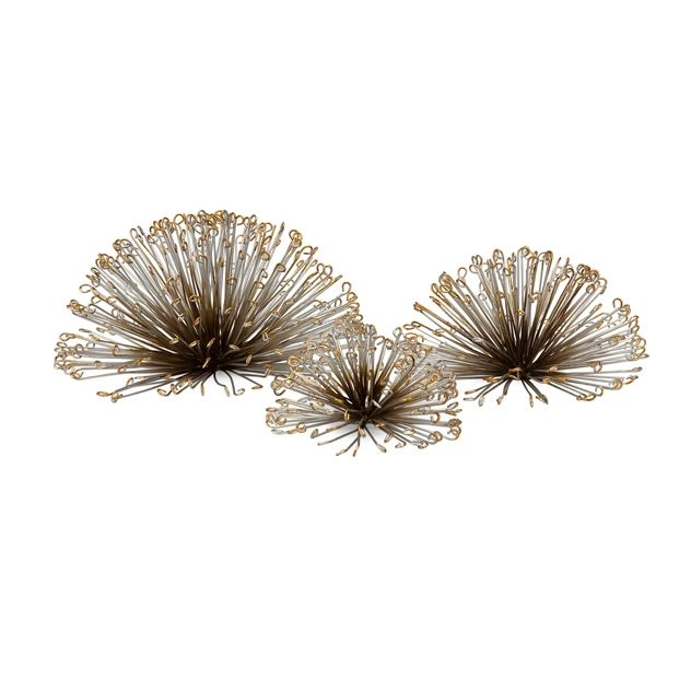Laserette Wire Flower Wall Decor - Set of 3 by Imax Accessories