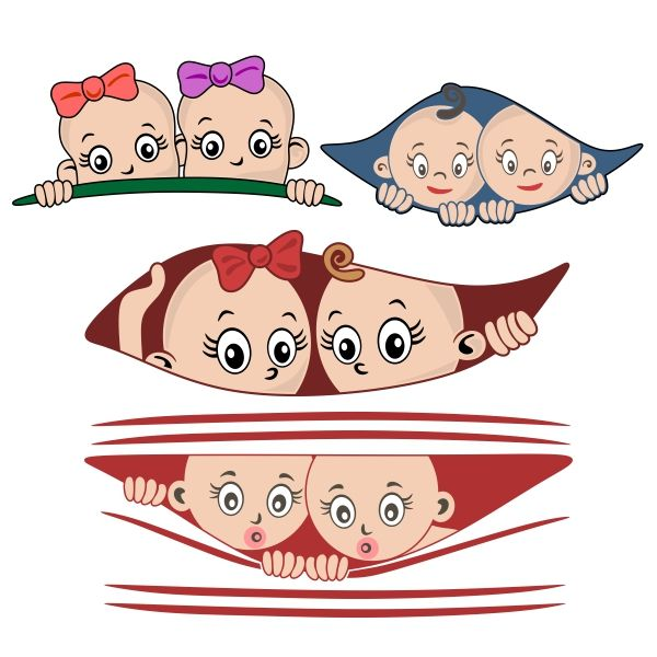 Twins Baby Pack Cuttable Design Cut File. Vector, Clipart, Digital Scrapbooking Download, Available in JPEG, PDF, EPS, DXF and SVG. Works with Cricut, Design Space, Cuts A Lot, Make the Cut!, Inkscape, CorelDraw, Adobe Illustrator, Silhouette Cameo, Brother ScanNCut and other software.