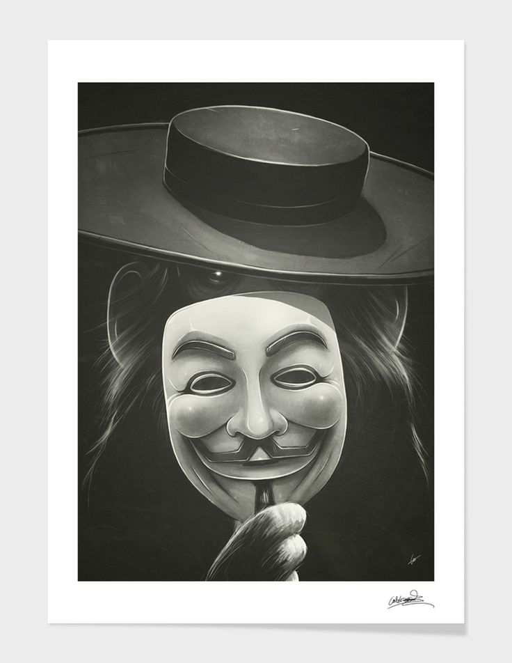"""Anonymous"" - Numbered Art Print by Dr. Lukas Brezak on Curioos"