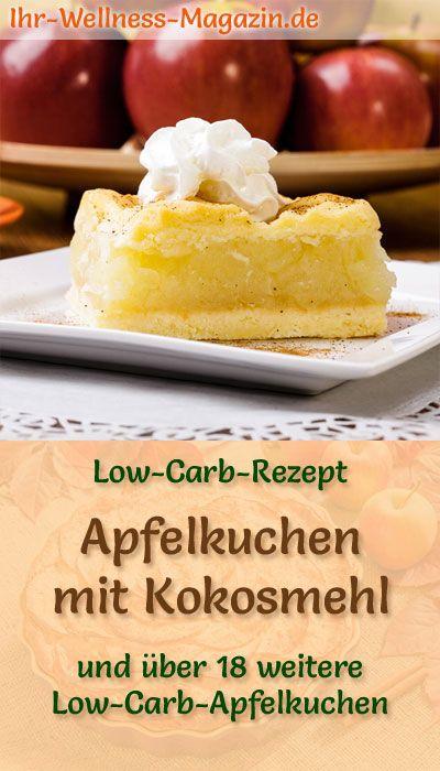 Low-Carb-Apfelkuchen mit Kokosmehl – Rezept ohne Zucker  – Low Carb Kuchen Rezepte