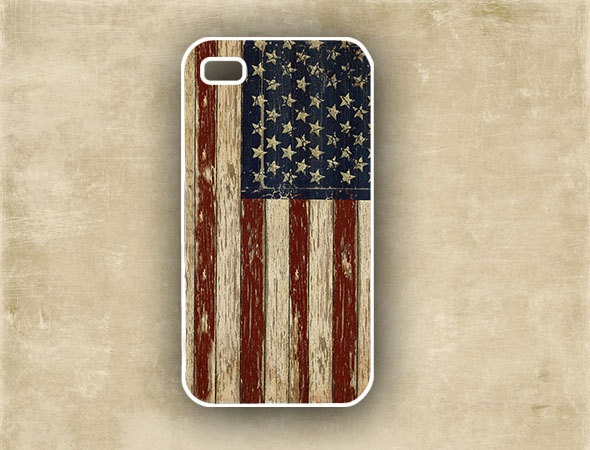Iphone cover - Case for Iphone - USA flag, vintage look patriotic smartphone case,  Iphone 4 case (9777). $16.99, via Etsy.