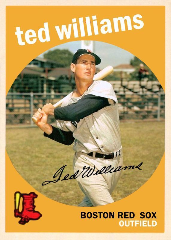 1959 Topps Ted Williams Baseballhistory Realbaseball Real