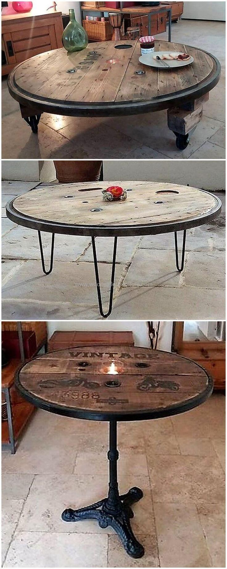 Creative Ideas To Reuse Wasted Shipping Wood Pallets. Cable Spool  TablesCable ...