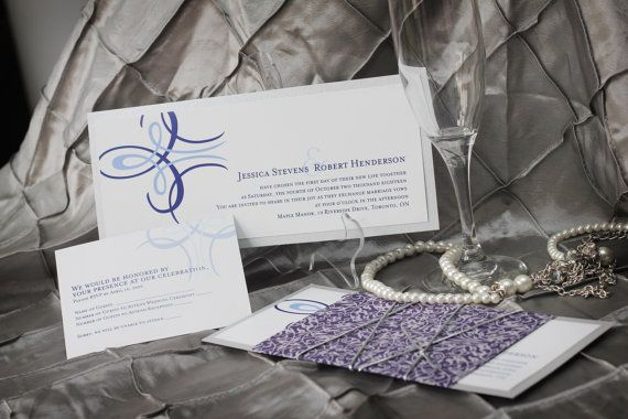 Wedding Invitation Package  Classic Silver