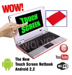 """TOUCH SCREEN Dark Red 7"""" Mini NETBOOK  at price $119.94.Details visit wolvol.com"""