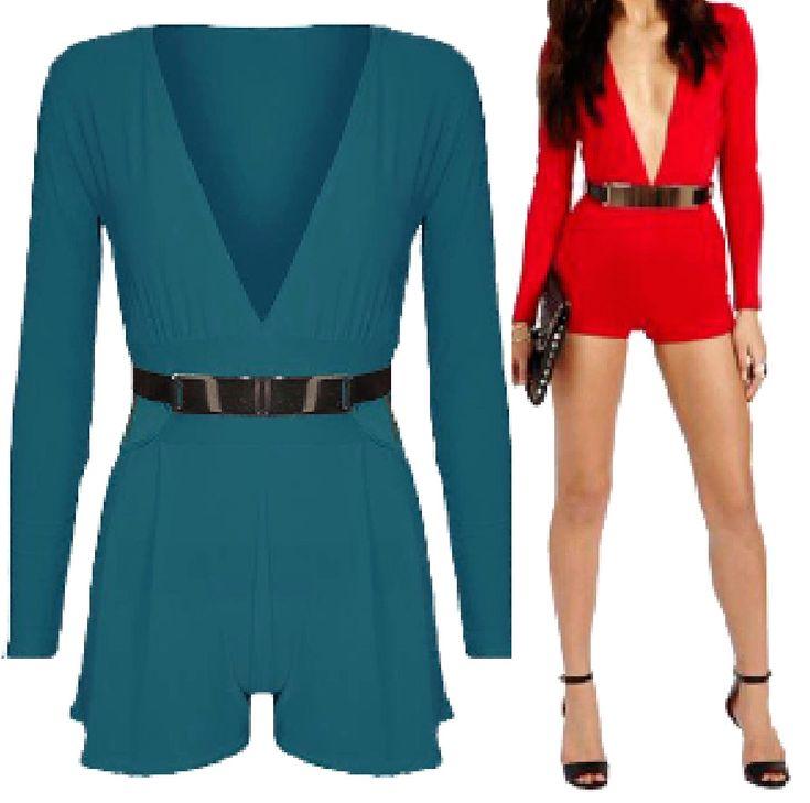 #LadiesJumpsuits #NeckPlunge #VNeck #GoldBuckle #Shorts #Jumpsuits #Womens #LongSleeve #Playsuits #Shorts #Dresses #UK #FlirtyWardrobe #FW https://www.ebay.co.uk/itm/372216999220?roken=cUgayN&soutkn=2ovp6y via @eBay  #Playsuit