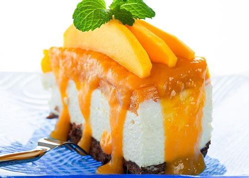 Cheesecake con Mermelada de Mango