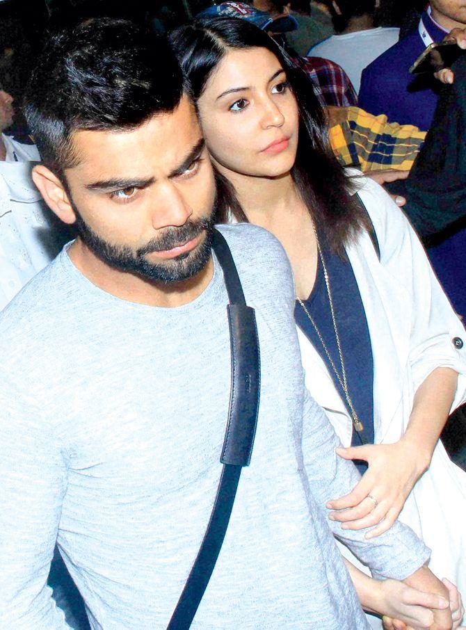 Virat Kohli and Anushka Sharma spotted hand in hand. #Bollywood #Fashion #Style #Beauty