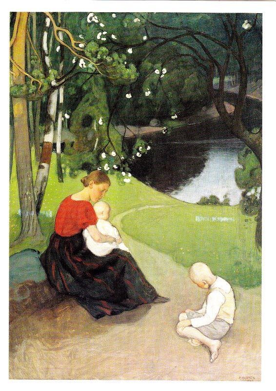 Kuva albumissa PEKKA HALONEN - Google Kuvat.  Tuonen lehto, 1902.  Yksityiskokoelma.
