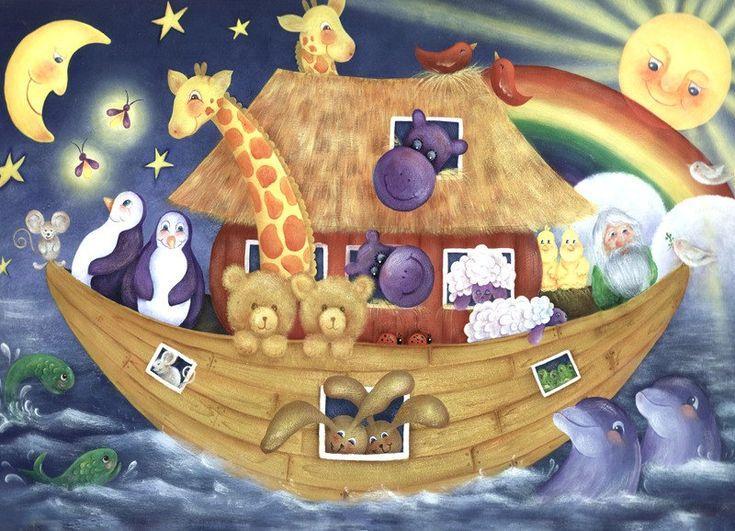 Noahs Ark Nursery Decor Acrylic Art Print by BethStephensArt