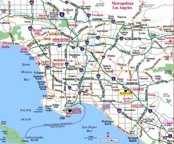 Los Angeles | Mapas de Los Angeles