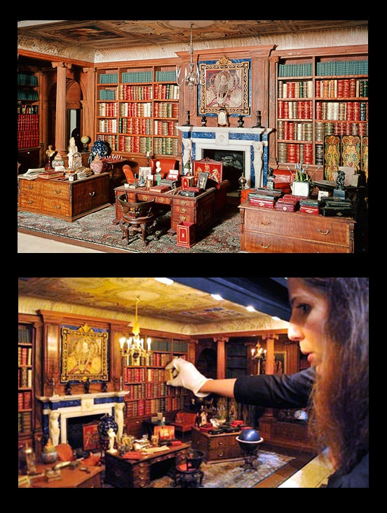 Queen Mary's Doll House, library (thanks to Neiva) http://metacafecolombia.com/
