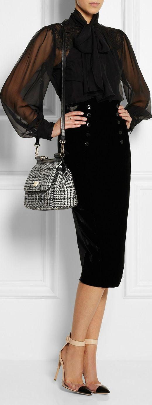 Dolce & Gabbana, L'Wren Scott, Gianvito Rossi shoes.