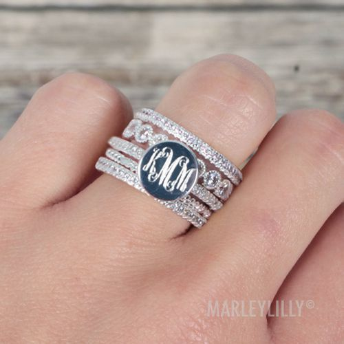 Rhinestone Fashion Ring Stack
