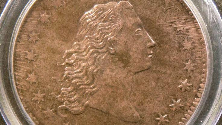 Se on kymmenen miljoonan dollarin dollari, Flowing hair eli Vapauden jumalatar. Supervaluutan kantaäiti vuodelta 1794 ,maailman kallein kolikko esiteltiin Suomessa.