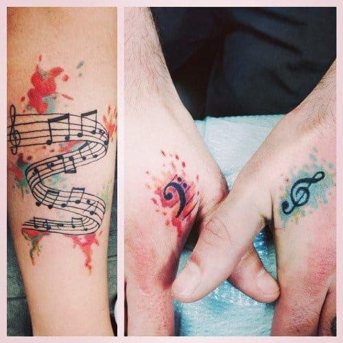 For many of us, it's difficult to picture life without music. Let these music tattoos be a reminder of that....