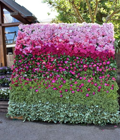 Beautiful Floral Backdrop by Rebecca Louise Law at Clifton Nurseries in London | Flowerona