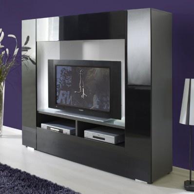Stylus High Gloss Black Grey Large Tv Stand 6180 05