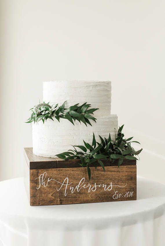 Rustikaler Cupcake Ständer | Rustikaler Holz Tortenständer | Rustikaler Geburtstagstortenständer | Rus …   – Bridal shower centerpieces