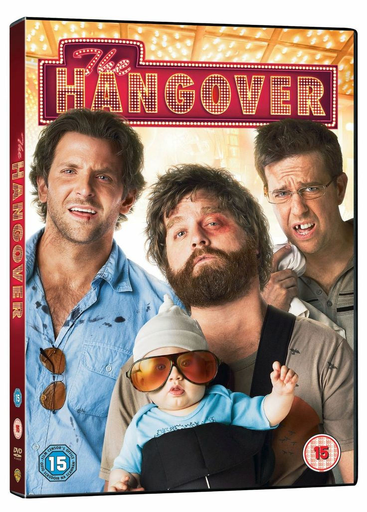 """The Hangover (2009) directed by Todd Phillips, starring Bradley Cooper, Zach Galifianakis, Justin Bartha, Ed Helms and Heather Graham. """"Three buddies wake up from a bachelor party in Las Vegas, with no memory of the previous night and the bachelor missing. They make their way around the city in order to find their friend before his wedding."""""""