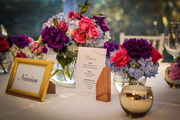 Arreglos florales y detalles para mesas, Refugio de la Reina.