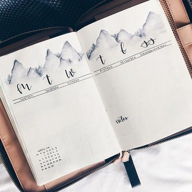 """134 Likes, 3 Comments - Bullet journal inspiration... (@bullet_journaling_it_is) on Instagram: """"I absolutely love this by @allorasbujo #bulletjournaljunkies #bulletjournalnewbie #bulletjournal…"""""""