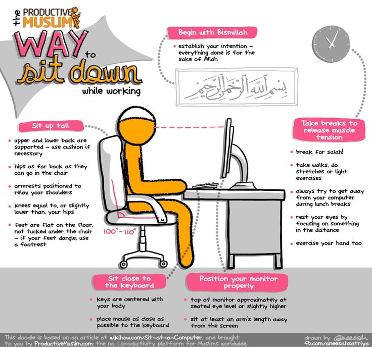 Productive Muslim Way to Sit Down