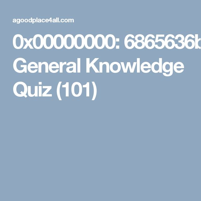 Check your gk  General Knowledge Quiz (101)