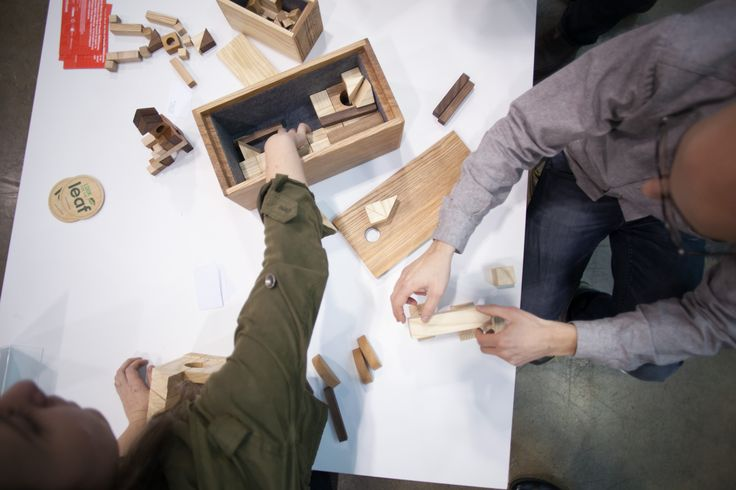 Peggy's Building Blocks, my shown at IIDEX 2014 Wood shop prototype exhibition