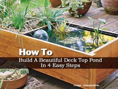 How to build an deck top pond in 4 easy steps diy for Easy pond ideas