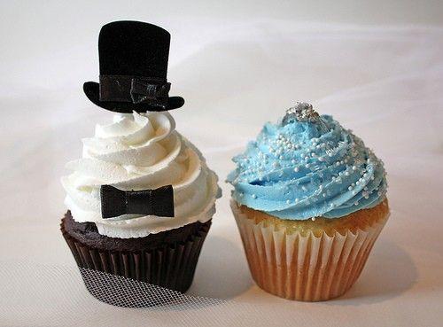 Wedding Cupcakes: Shower Ideas, Bride Grooms, Wedding Ideas, Bridal Shower Cupcake, Cakes Toppers, Grooms Cupcake, Wedding Cupcake, Bride Cupcake, Tops Hats