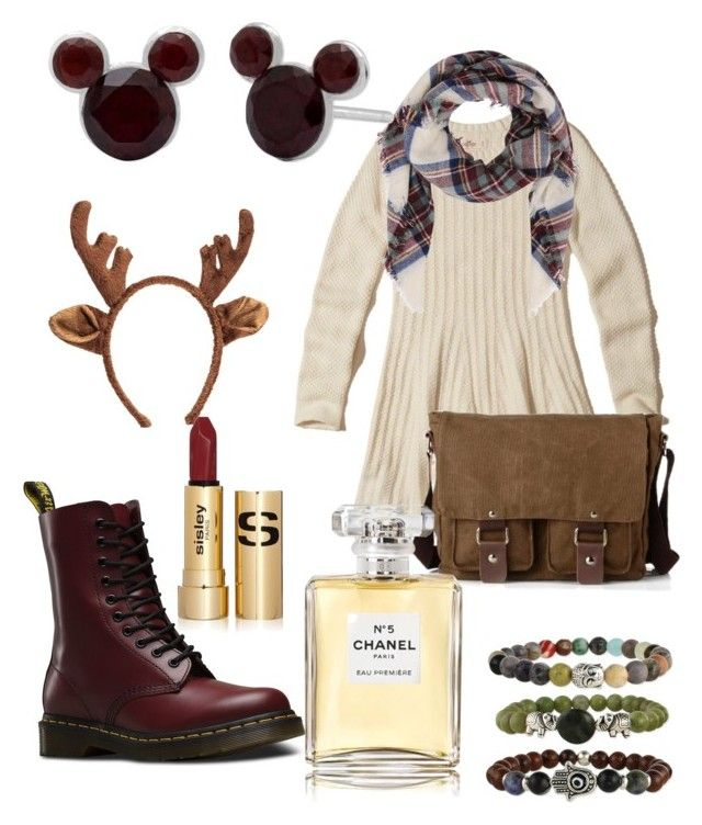 my dear deer by magkulinska on Polyvore featuring polyvore fashion style Hollister Co. Dr. Martens Disney Armitage Avenue Sisley Chanel clothing