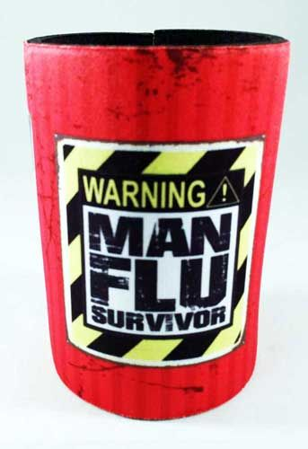 Man Flu Survivor, Man Cave Cooler. Great one for your cave or collection. Check it out.
