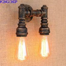 Neues Design 4 Farbe Eisen Wasserleitung Vintage Wandleuchtesteampunk Rohr Wandleuchte 2 Lampen Fr Flur Schlafzimmer Wohnzimmer