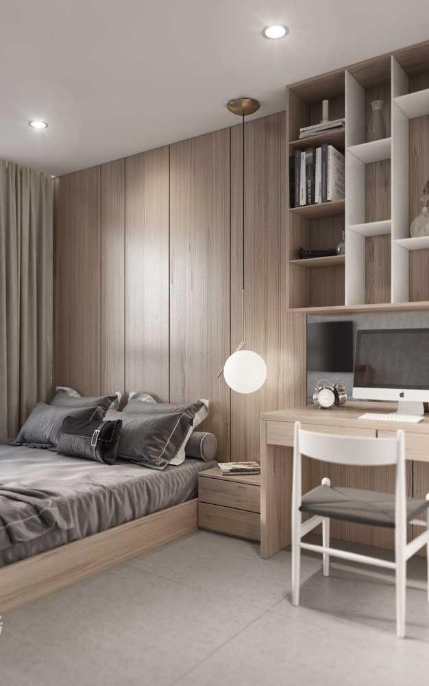 Quarto De Solteiro 60 Modelos Fotos E Ideias Incriveis Apartment Interior Bedroom Furniture Design Home Room Design