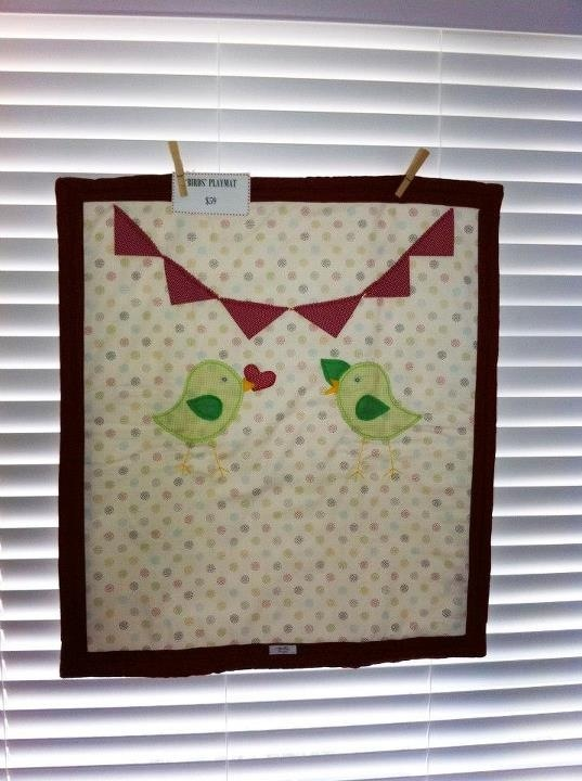 Infant nap/ play mat. Double cotton wadding. $59 not inc postage