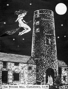 Witches Mill Pamflet het eerste museum voor hekserij op het Ilse of Man in de Ierse zee,later  is de collectie overgebracht naar Boscastle