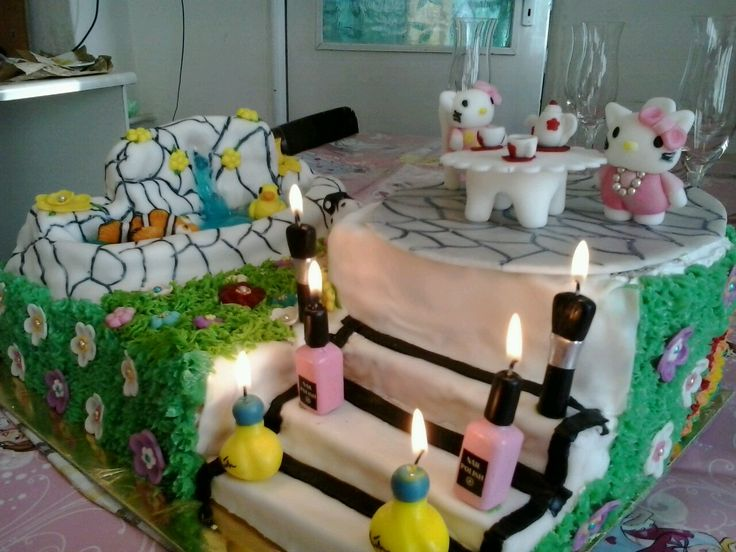 Karina unokám 6. szülinapi tortája.
