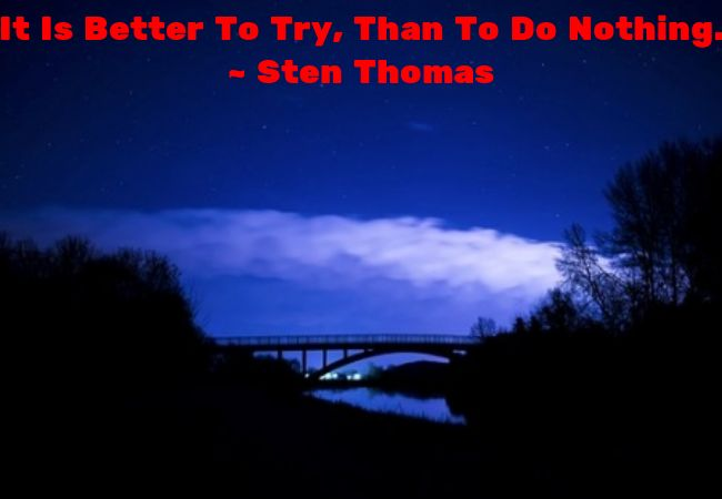 Try - Those who don't try, will gain nothing.