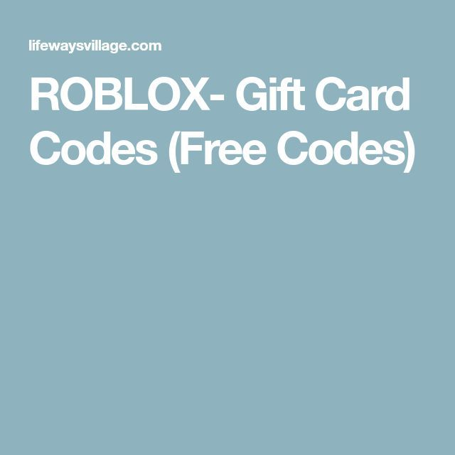 Roblox Gift Card Codes Free Codes In 2019 Free Gift