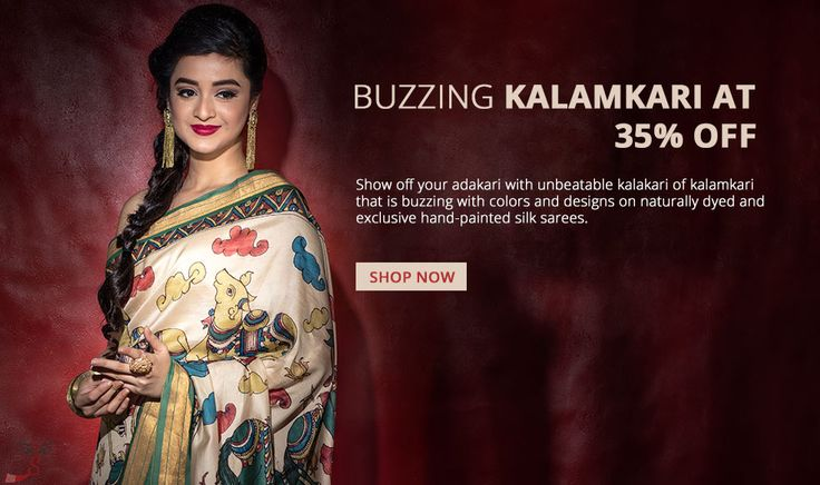 #Kalamkarisarees are very artsy and although the art is ancient, these #sarees look classy and are in vogue.