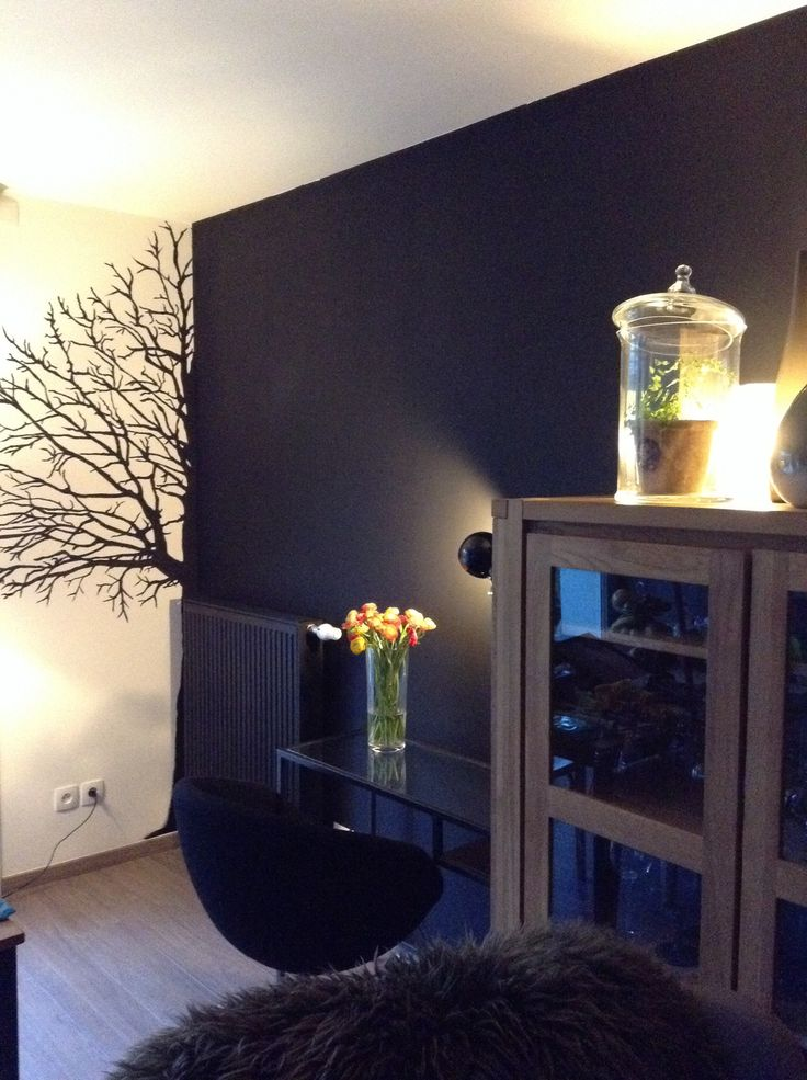 Arbre peint dans mon salon